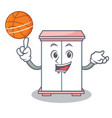 with basketball cabinet character cartoon style vector image