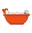 woman in the bathtub vector image