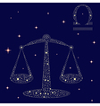 Zodiac sign Libra on the starry sky vector image vector image