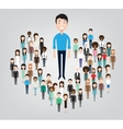 big business man standing in the crowd vector image