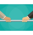 tug of war business competition concept vector image