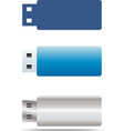 usb flash icons set vector image