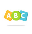 abc english letters logo or learning school vector image vector image
