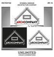 Arch Company Logo Template vector image