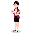 asian business woman in office clothes vector image vector image