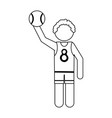 athlete icon image vector image vector image