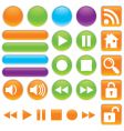 audio and video buttons vector image vector image