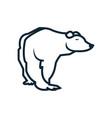 bear icon isolated on white background vector image