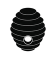 Bee hive black simple icon vector image vector image