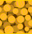 bitcoin seamless pattern cryptocurrency background vector image vector image