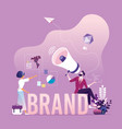 brand awareness campaign - business branding vector image