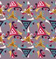bright graffiti geometric seamless pattern grunge vector image