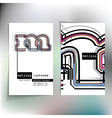 Business card design with letter m vector image vector image