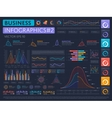 Business infographics set with different diagram vector image vector image