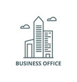 business office line icon business office vector image vector image