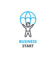 business start concept outline icon linear sign vector image vector image