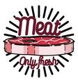 Color vintage meat store emblem vector image vector image