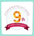 colorful polygonal anniversary logo 3 009 vector image vector image