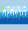 comic cityscape concept vector image vector image