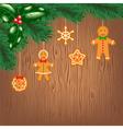 Cookies hanging on christmas tree