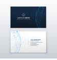 digital blue business card design vector image vector image