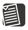 document paper file isolated icon vector image vector image