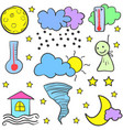 doodle of weather style design vector image