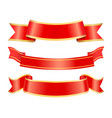 empty ribbons red banners for messages stripes vector image vector image