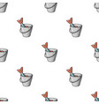 fish in the bucket icon in cartoon style isolated vector image vector image