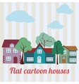 flat houses vector image