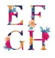 flower alphabet vector image vector image