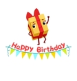 Gift Box And Paper Garland Kids Birthday Party vector image vector image