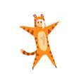 girl wearing tiger animal costume person