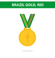 gold medal brazil rio olympic games 2016 vector image vector image