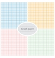 Graph paper patterns vector image