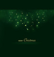 green merry christmas greeting card vector image vector image