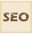 Grungy SEO icon vector image vector image