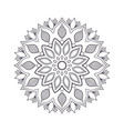 hand drawn flower mandala for coloring book vector image