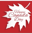 Happy Canada Day card vector image vector image