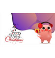 happy chinese new year pig greeting card card vector image vector image
