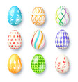 happy easter seasons holidays collection vector image vector image