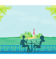 Happy young couple on a tropical beach vector image vector image