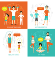 Healthy Family Flat Concept vector image vector image