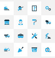 industry colorful icons set collection of dozer vector image vector image