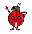 ladybug friendly cute insect cartoon vector image vector image