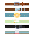 leather belt various cartoon pictures of vector image