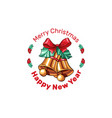 merry christmas wishes greeting card vector image vector image