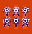 modern professional set balls emblem and vector image vector image