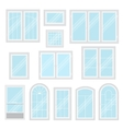 Modern shiny windows set isolated vector image