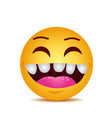 modern yellow laughing happy smile vector image vector image